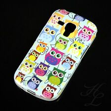 Samsung Galaxy S Duos s7562 SILICONE CUSTODIA GUSCIO PROTETTIVO BUMPER molti uccelli gufo