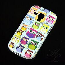 Samsung Galaxy S Duos S7562 Silikon Case Schutz Hülle Bumper Viele Eule Vogel
