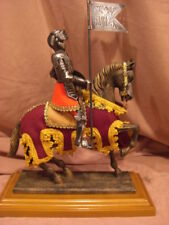 Medieval Knight In Shining Armor On Horseback Figurine.New In Box/Made In Spain.
