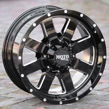 20x10 BLACK rims MOTO METAL 962 1994-2018 LIFTED DODGE RAM 1500 5x5.5 -24mm