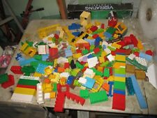 big lot of lego duplo blocks all colors shapes and sizes