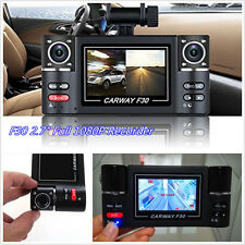 "12V 2.7"" Dual Lens 180° Rotatable Car F30 Tachograph Video Recorder Night Vision"