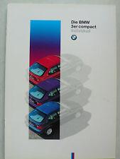 PROSPEKT BMW 3er e 36 Compact individual, 1995, 12 pagine