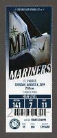 Fernando Tatis Jr. HR #20 San Diego Padres Seattle Mariners 8/6/2019 Full Ticket