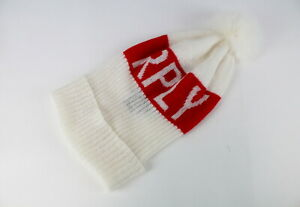 RRP€89 REPLAY AW4202 Men One Size Unisex Knitted Logo Pompom Hat 20717*