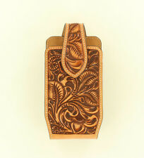MEDIUM ~Leather PHONE HOLSTER~ Rotating Clip - Western - Brown Leather 0689108