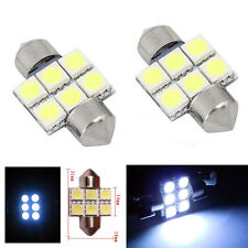 NEU2x White 31MM 5050 6SMD Festoon Dome Interior LED Light Bulbs DE3175 30216428