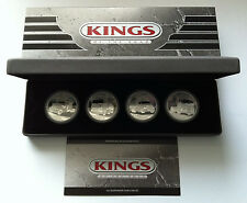 2010 $1 KINGS OF THE ROAD 1oz SILVER PROOF FOUR COIN SET