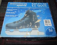 New Vintage Seneca Sports Boys Black Double Runner Learner Figure Skates Sz:11J
