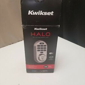 Kwikset 99380-002 Halo Wi-Fi Smart Lock Keyless Entry Electronic Keypad Deadbolt