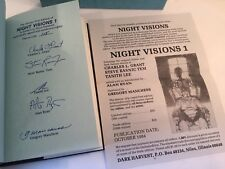 Alan Ryan Night Visions Of The Dead 1 Signed Limited 1st Edition 1984 115/300 HC