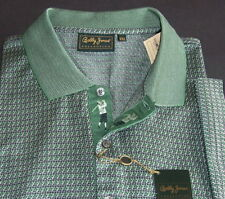 Bobby Jones polo golf shirt 2XL Italy short sleeve geo nwt $175  (9)