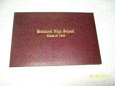 BRADDOCK,PA HIGH SCHOOL CLASS OF 1942 BURGANDY HARD COVER HS DIPLOMA-WROBLESKI