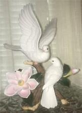 "Home Interiors Porcelain White Doves ""Magnolia Delight"" #11104-99 Figurine"