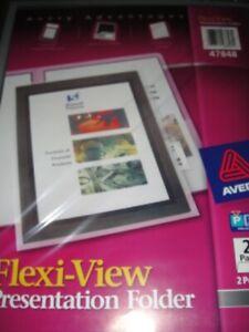 Avery Flexi-View Presentation Folder 47848 2 Folders
