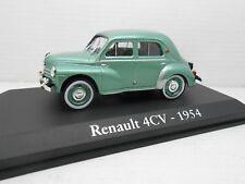 1/43 COCHE RENAULT 4CV 4/4 1954 Verde Metalizado  IXO RBA  1:43 METAL MODEL CAR
