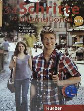 Hueber SCHRITTE INTERNATIONAL NEU A2 3+4 Medienpaket: CDs & DVD zum Kursbuch NEW