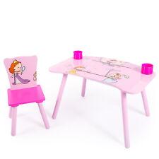 Kindersitzgruppe Maltisch Zeichen Bastel Spieltisch Stuhl Tisch Pink Homestyle4u