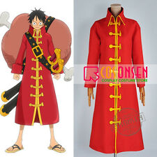 Cosonsen One Piece Film Z Monkey D. Luffy Cosplay Costume Red Trench Coat
