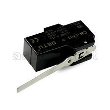 Black Micro Limit Switch Momentary Long Lever CM-1701 1701 NO -COM- NC 380V 15A