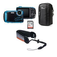 Fujifilm FinePix XP140 Digital Camera Sky Blue W/Fuji Float Strap/Case/16GB Card
