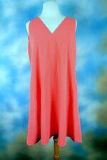 NEW $145 RALPH LAUREN coral rose double v neck tank dress SZ: 12