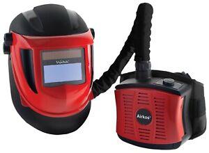 AIR FED Navitek Red Side Welding With Auto Darkening Helmet With Grinding Visor