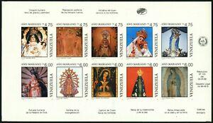 VENEZUELA #1425 Proof SPECIMEN Sheetlet Latin America Stamps Postage 1988 MNH NG