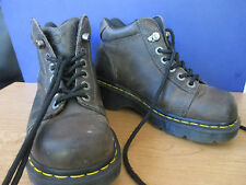 DOC MARTENS~Brown Industrial Leather SLIP RESISTANT BOOTS~Women's 7