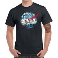 NASA Starry Sky Men T-Shirts Funny Graphic Shirt Cotton Short Sleeve Basic Tees
