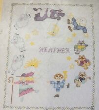 """Nursery Rhyme Baby Quilt Cross Stitch Embroidery Complete Kit 34""""X43"""""""