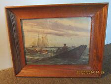 """Old Maritime """"N.Grant"""" Fishermen At Sea Print"""