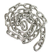 """1/4"""" 316L stainless steel anchor chain/sold by the foot, Free shipping lower 48"""