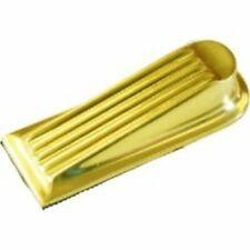 Polished Brass or Matt Nickel Door Wedge 100mm Heavy Duty New Shop Office Pub