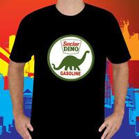 New SINCLAIR DINO GASOLINE Company Logo Men's Black T-Shirt Size S to 3XL