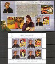 Congo 2006 Art Paintings Paul Gauguin Sheet of 4 +S/S MNH**