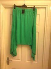 Jersey Knee Length Plus Size Asymmetrical Skirts for Women