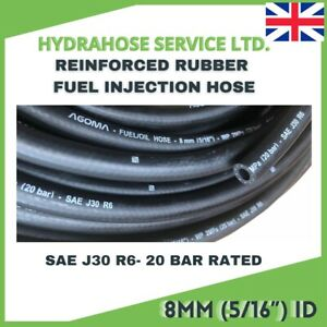 E10 FUEL HOSE 8mm id SAE J30 R6 5/16 FUEL INJECTION Rubber Pipe Nitrile NBR Tube