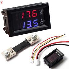 10A 50A 100A Voltmeter Ammeter DC 100V LED Dual Digital Volt Amp Meter Gaug J8K0