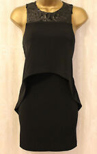 BCBGeneration Leather Look Crop Top Stretch Jersey Mini Party Dress  6 34 XXS