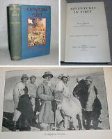 Antique Book Adventures in Tibet Sven Hedin 1st Ed. 1904 Himalayas Asia Travel