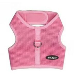 """Dog Harness Pink No Choke Mesh Wrap N Go Strap - Up to 30"""" Chest Bark Appeal"""