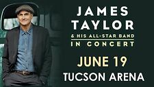 """JAMES TAYLOR & HIS ALL STAR BAND """"IN CONCERT"""" 2016 TUCSON TOUR POSTER"""