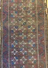 Beautiful Baluchi - 1880s Antique Tribal Rug - Nomadic Carpet - 3.3 x 10.6 ft