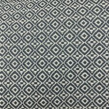 Kravet Nate Berkus Small Diamond Upholstery Fabric Attribute Grid In Denim 10.5Y