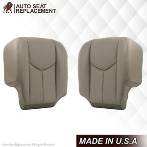 2003 2004 2005 2006 2007 Chevy Avalanche and Silverado Leather Seat Covers Gray