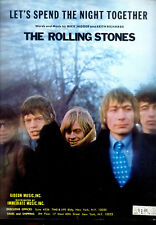 """THE ROLLING STONES Sheet Music """"Let's Spend The Night Together"""" 1967"""