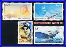 FRANCE= AVIATION / PLANES COLLECTION of 4 MNH STAMPS face VALUE €17.00/$20.00