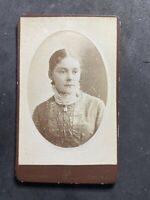 Victorian Carte De Visite CDV: Young Lady Sad Face: Protheroe: Bristol: 2 Of 2