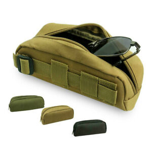 Tactical Molle Portable Sunglasses Case Eyeglasses Bag Outdoor Glasses Pouch